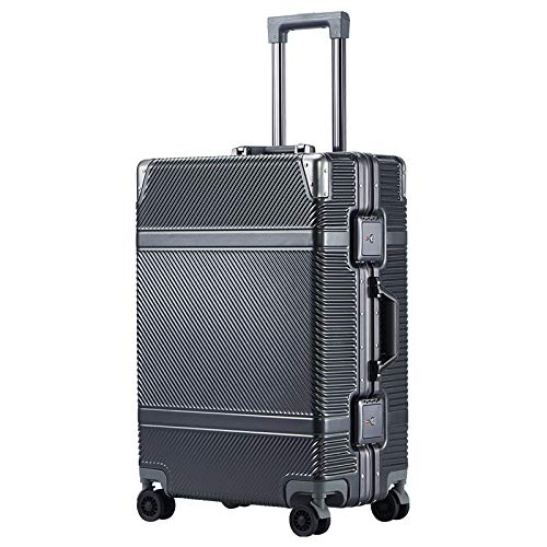 "AHJSN 20\""Zoll Kabine Aluminium Rahmen Gepäck Reise Box, 24\"" Zoll Rad Stamm, Anti-kollision PC Shell Koffer Tasche, Roll Trolley 20\"" Gray"