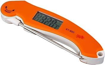 HomeDecTime Termómetro Instantáneo De Lectura Ultrarrápida Termómetro Electrónico Digital De Alimentos Cocina Cocina Herramientas Electrónicas Para Parrilla Cocin - Naranja plegable