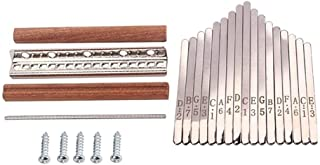 CHENTAOMAYAN 1 Set Steel Kalimba Mbira DIY 17 Keys with Thumb Piano Bridge Musical Instrument Parts for Luthiers Makers fo...