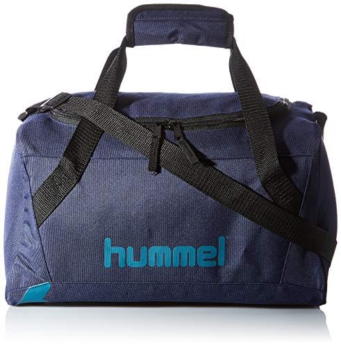 hummel hmlACTION Sports Bag, Borsa Sportiva. Unisex-Adulto, Zaffiro Scuro/Blu Corallo, Small