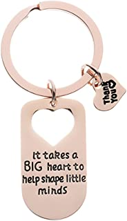 Infinity Collection Teacher Charm Keychain, It Takes Big Heart to Teach Little Minds Rose Gold Jewelry, Teacher Gift - Show Your Teacher Appreciation