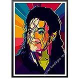 liuyushuo Poster Póster De Michael Jackson, Decoración De Arte De Pared, Póster De Música, Póster Pop, Ideas De Regalo, Michael Jackson, 50X70 Cm Sin Marco