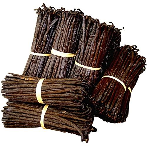 Baccelli di Vaniglia Bourbon del Madagascar, 10 bacche di vaniglia Gourmet intera di qualità extra e superiori ai 16 cms, peso circa 30 gr spedite in pratico imballaggio sotto vuoto anti spreco
