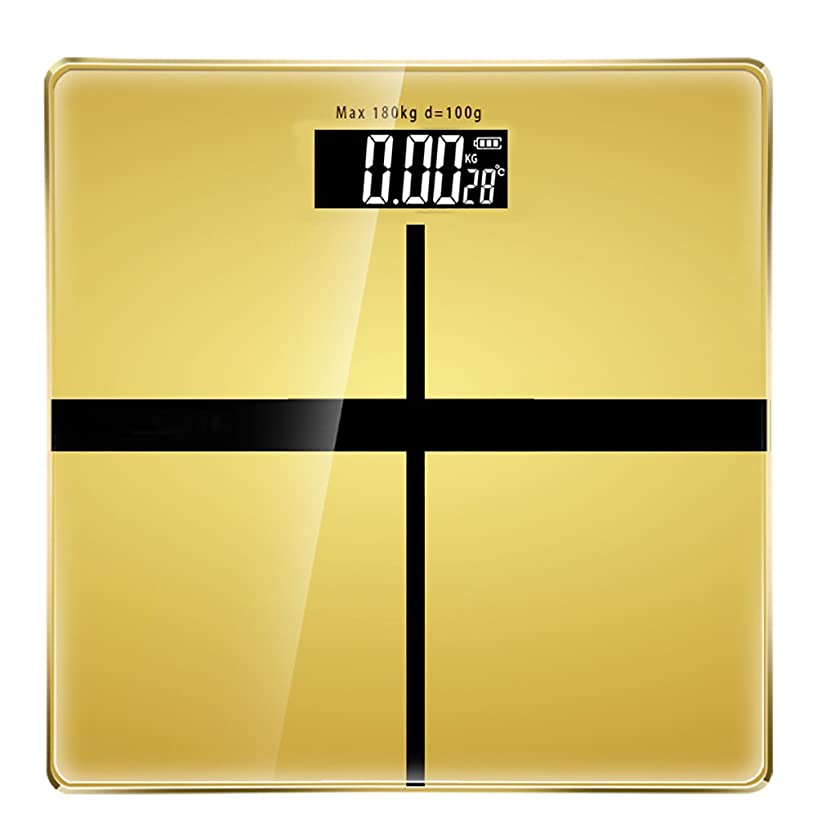 シチリア摂氏度シーサイドSYF 体重計 電子秤量計量秤量計量秤量家庭用健康秤丸型スケールLCDグローディスプレイ耐荷重180KG A+