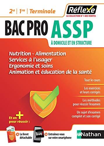 Bac Pro ASSP - Nutrition, alimentation, services à l'usager, ergonomie, soins, animation, éducation à la santé - Guide Reflexe - 2de/1re/Tle - Bac Pro 2021