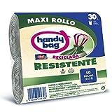 Handy Bag Maxi Rollo Plástico Basura 30L, 90% Reciclado, Extra Resistentes, 50...