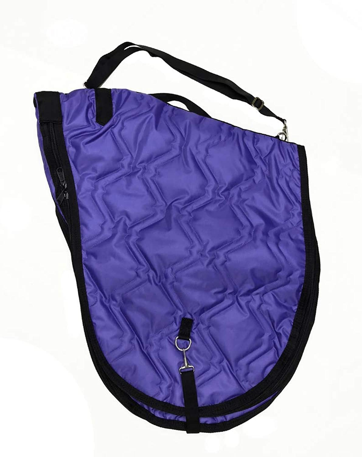 English Horse Saddle Carrier Travel Case Bag All Purpose Saddle Quilted