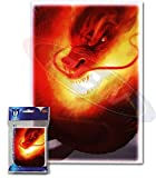 Max Protection 100 'Inferno' MTG Size Deck Protectors Magic Card Sleeves