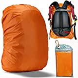 Evotopf Waterproof Backpack Rain Cover with Adjustable Anti Slip Buckle Strap & Sliver Coating Reinforced Inner Layer for Camping, Hiking, Traveling, Hunting, Biking and More, 30-40L(Orange)