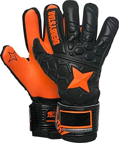 Derbystar Evolution I Handschuhe Unisex, schwarz orange, 10