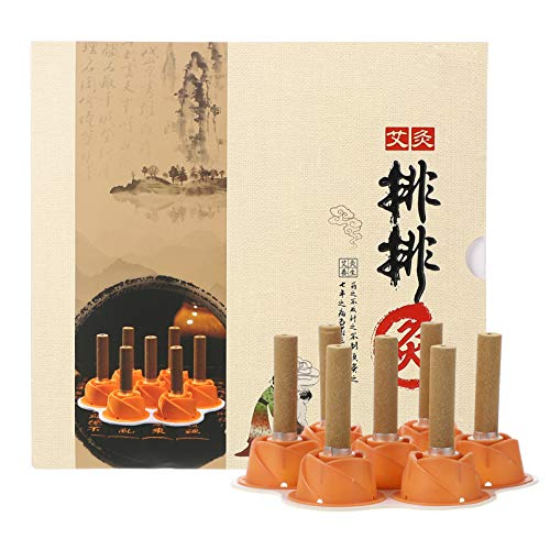 Healifty Moxibustion Sticks Stickers Acupuncture Wormwood Moxa Sticks On Cone Chinese Traditional Mugwort AiJiu Acupoint Body Acupuncture