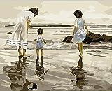 Fuumuui Lienzo de Bricolaje Regalo de Pintura al óleo para Adultos niños Pintura por número Kits...