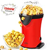 SIMBR Popcorn Popper, 1200W Hot Air Popcorn Maker, Large Capacity with Measuring Cup