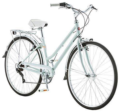 Schwinn Wayfarer Bike Mens and Womens Hybrid Retro-Styled Cruiser, 7-Speed, 28-inch Wheels, Small Frame, Light Mint
