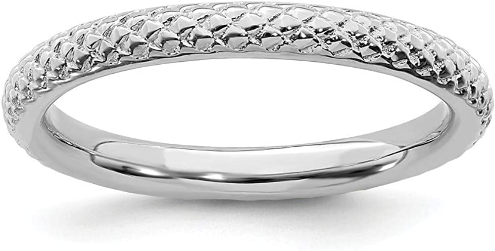Roy Rose Jewelry Sterling Silver Sales of SALE items from new works Rhodium Large-scale sale C Stackable Expressions