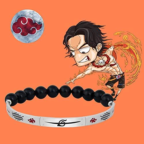LYWER Anime Cosplay, Naruto Uchiha Itachi Protección de la Frente Pulsera Cos Props, Naruto Anime Cosplayers Accesorios de Ropa, Akatsuki Hongyun Pulsera Joyería