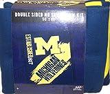 NCAA Michigan Wolverines Double Sided No Sew Fleece Blanket Kit