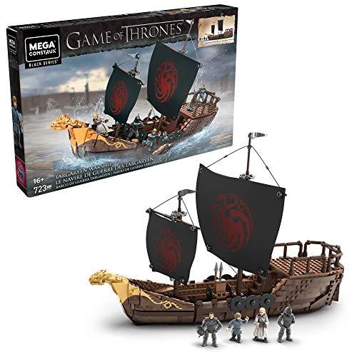 Mega Construx Game of Thrones le Navire de Guerre des Targaryen, jeu de briques de construction, 723 pièces, 16 ans et plus, GPB29