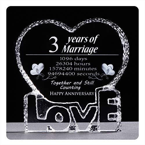 3rd Wedding Anniversary Crystal