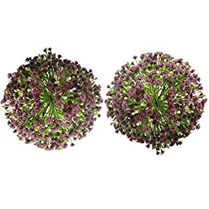2 Pack Gypsophila Flowers Bouquet Artificial Baby Breathes Real Touch Flower for Wedding Home Office Party Birthday Garden Store Decoration (Z Brown)