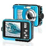 Appareil Photo Etanche Caméra sous Marine 2.7K Full HD 30MP Appareil Photo Numérique à Zoom Anti Secousse… (Dark_Blue)