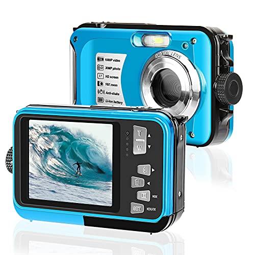 Unterwasserkamera 2.7K Full HD 30MP wasserdichte Kamera 10 Fuß Unterwasserkamera Anti Shake Zoom Digitalkamera