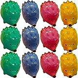 Temperamatite Manuale,LLMZ 16 Pezzi Creativo di Temperamatite,Temperamatite a Forma di Animale,Temperamatite Manuale-Creativo in Plastica a Forma di Riccio + Acciaio Inossidabile