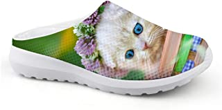 Cute cat Animal Men's mesh Width Sandals Slippers Beach Shoes Non-Slip Slippers Clog Mules Boys Casual Flat Lazy Shoes Siz...