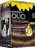 Garnier Olia Coloración Permanente sin Amoniaco, Agradable  Aroma con Aceites Florales de Origen Natural, Color Bronce Oscuro 5.9