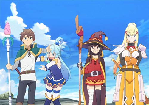 lubenwei KonoSuba God's Blessing on this Wonderful World Poster Canvas Painting Posters and Prints Wall Art Picture for Living Room Home Decor (AY-929) 50x70cm No frame