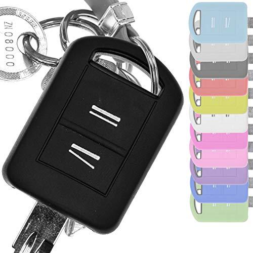 Soft Case Silikon Schutz Hülle Auto Schlüssel Schwarz kompatibel mit Opel Combo C...