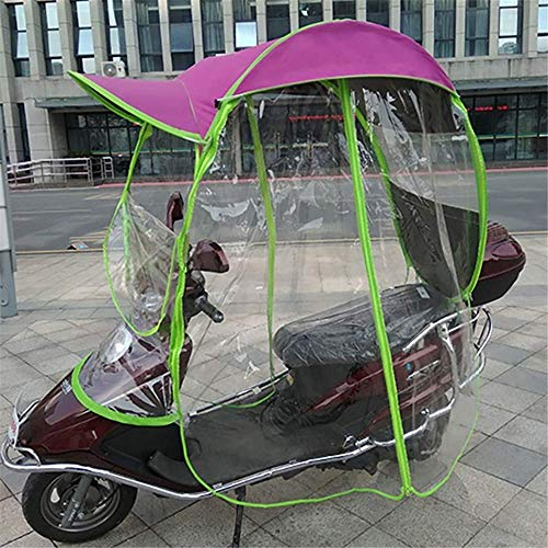 JJYY Mobility Scooter Sun Rain Wind Cover Coche eléctrico Prevención Paraguas, Universal Electric Motorcycle Rain Cover Toldo con Dosel, A Prueba de Lluvia, Tiene Espejo retrovisor, B