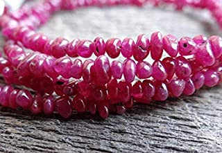 Jewel Beads Natural Beautiful jewellery Beautiful Vibrant Precious Uncut Untreated AAA Fuchsia Red Ruby | Rustic Rough Raw Rondelle Nuggets | ~3-7mm | Sold in Sets of 16 RondellesCode:- JBB-6920