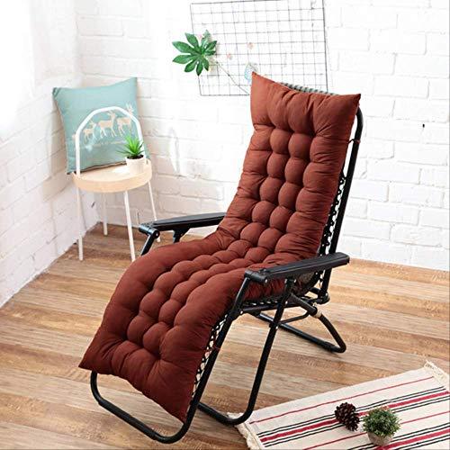 NoNo Lang kussen ligstoel kussen dikke opvouwbare schommelstoel kussen lange stoel zitbank pads tuinligstoel mat 40x110cm koffie