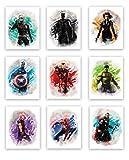 Avengers Superhero Aquarell-Kunstdrucke (ungerahmt) |