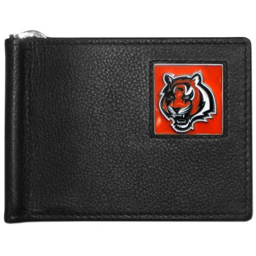 NFL Siskiyou Sports Mens Cincinnati Bengals Leather Bill Clip Wallet One Size Black