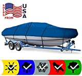 Blue Boat Cover for Smoker Craft PRO Alaskan 172 1996-1998, Travel Storage Mooring
