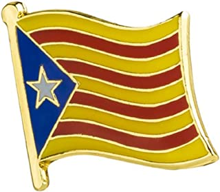 STRASS & PAILLETTES Pin catalán Broche Bandera cataluña estelada
