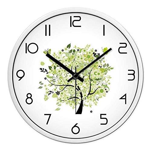 YLCJ Reloj de Pared de Cuarzo Simple con una decoración Moderna de Metal Números arábigos [Número] 12 de la Personalidad 14 PO 16 po-E 14PO
