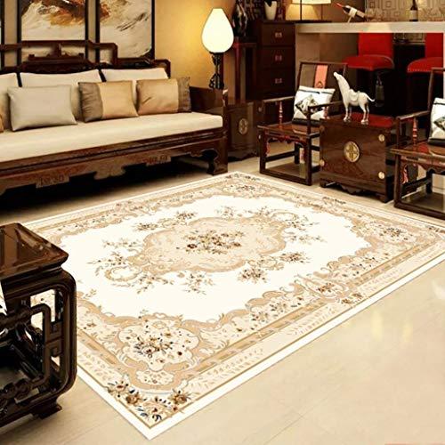 Teppich Hauptdekoration Rechteck Classic Home Art Rug Retro Traditionelle Blumenmuster Design Soft Multifunktional für Wohnzimmer Sofa Schlafzimmer zum Entspannen Lesen Multi Farben Teppich in verschi