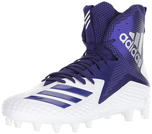 adidas Men's Freak X Carbon Mid Football Shoe, White Collegiate Purple, 14 M US