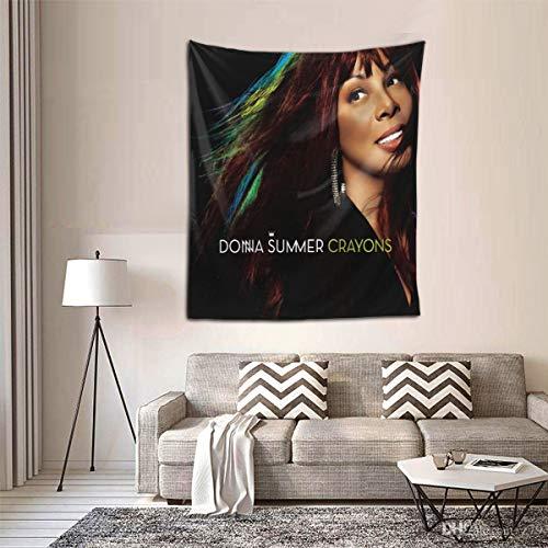 KatieTPappas Donna Summer Crayons Band Wall Hanging Tapestry Bedding Tapestry Bedroom Bedroom Decorative Decorations Blanket 60 51inch