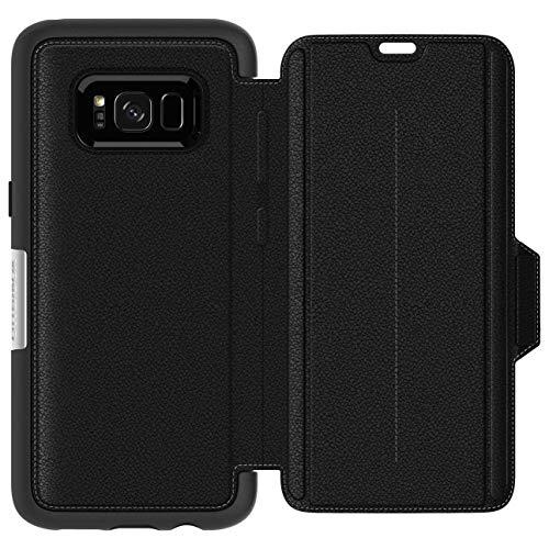 OtterBox Strada - Funda de piel formato folio para Samsung Galaxy S8+, color negro