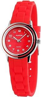 Reloj de Pulsera para niños (analógico, Metal, Silicona, Cuarzo), Color Rojo