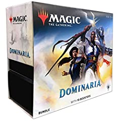 Welcome back to dominaria, the Nexus of the Magic Multiverse! All early magic sets except for Arabian nights and homelands took place here! Each bundle contains: 10 dominaria booster packs, 1 card box, 1 player's guide with complete visual encycloped...