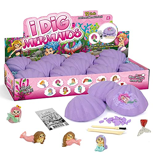 STURISH Stem X Kids Education Toys Fairy i Dig Kit - Dig It Out - DIY Toy for Kids, Science Project Excavate Dino Eggs, - Great Gift for Boys and Girls Birthday, Christmas, Hanukkah (i Dig Mermaids)