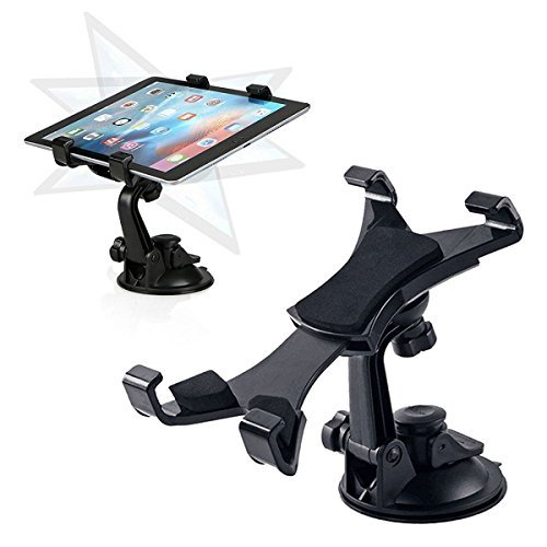 """Car Tablet Holder, Tablet Dash Mount iPad Stand Holder for Car Windshield Dashboard Universal Tablet Car Mount with Suction Cup Compatible for Samsung Galaxy Tab/iPad Mini Air 4 3(All 7-10.5"""" Tablets)"""