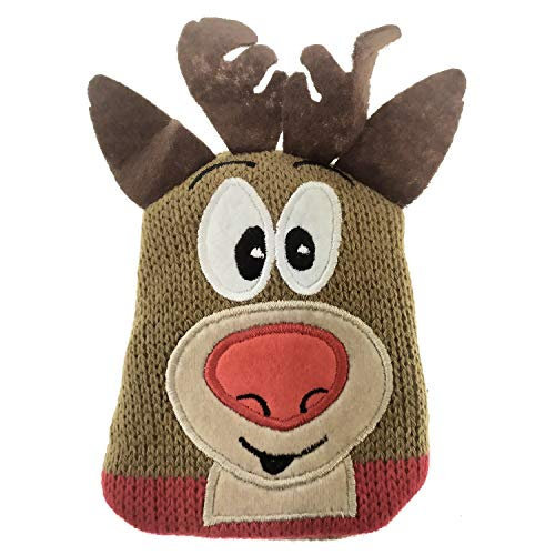 Unbekannt Rentier Weihnachten Handwärmer mit Stoffüberzug - Weihnachts-Rentier Taschenwärmer