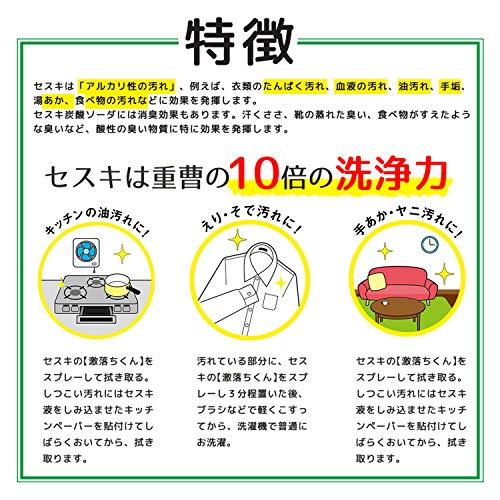 レックセスキの激落ちくん400ml(洗浄・除菌・消臭)アルカリ電解水安心安全2度拭き不要