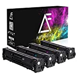 4 Alphafax Toner kompatibel mit HP CF210X CF211A CF212A CF213A für HP Laserjet Pro 200 M251n Color MFP M276nw M276n M251nw - Schwarz 2.400 Seiten, Color je 1.800 Seiten
